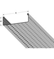 Perforated tray 3 m 100 mm